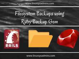 Filesystem backup using backup gem