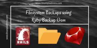 Filesystem backup using backup gem