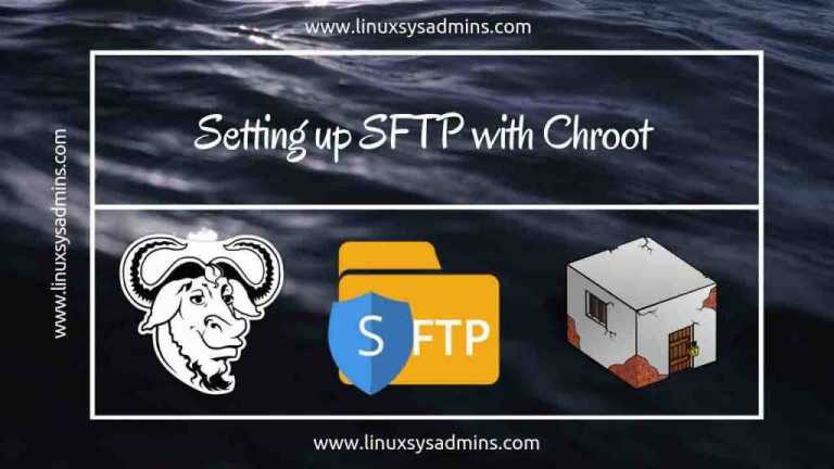 Setting up SFTP with chroot