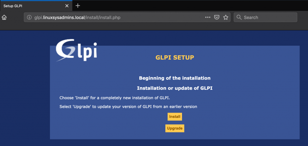 GLPI Asset Management Begin Setup