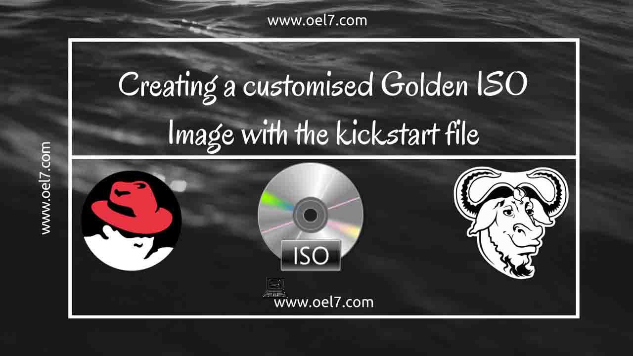 Linux KickStart golden Image