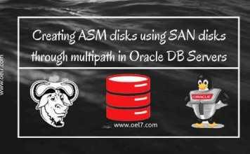 Creating ASM disks on SAN disks through multi-path