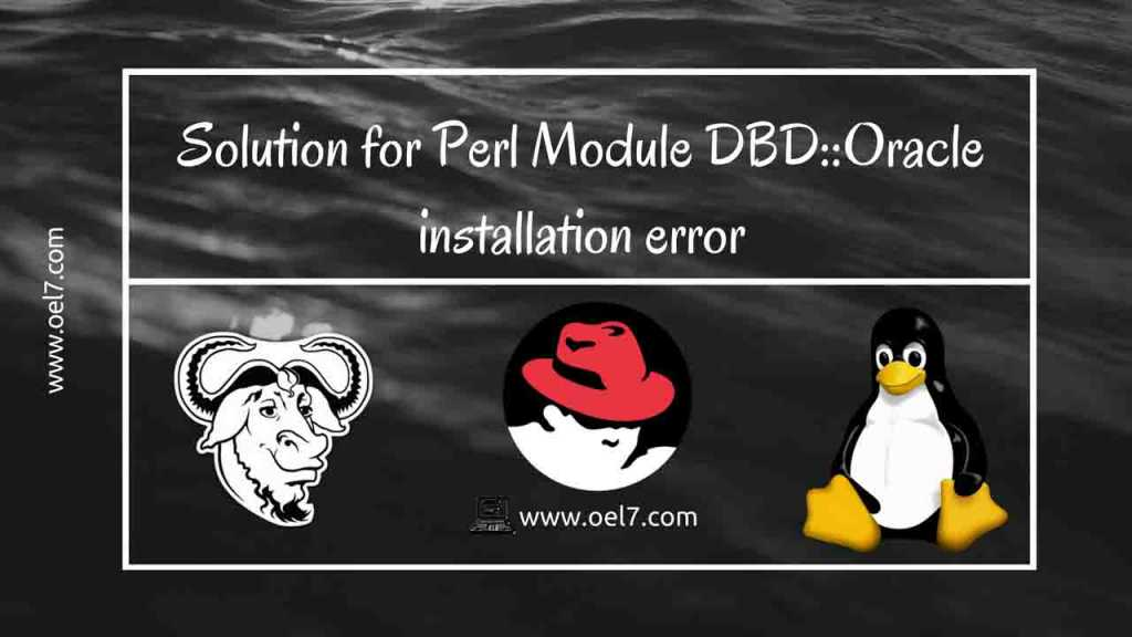 Solution for Perl Module DBD::Oracle installation error 1