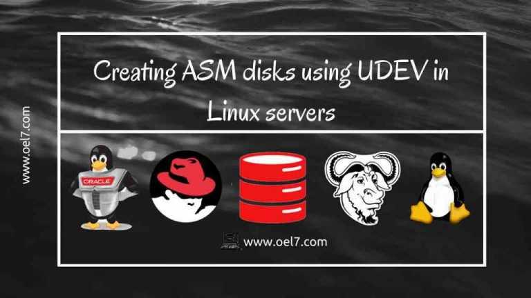 Creating UDEV ASM Disks using UDEV in Linux servers