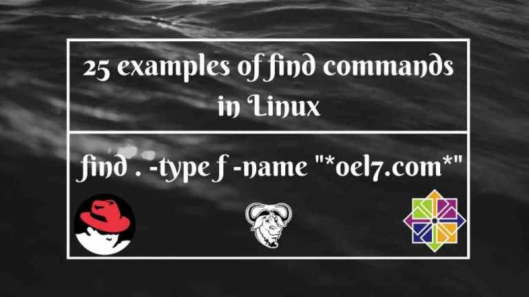 26 examples of find commands in Linux