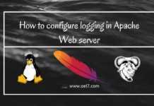 Configure Apache Web server Logging