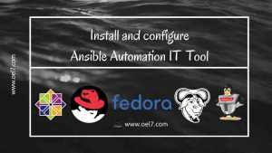 Install and configure Ansible Automation IT Tool 4