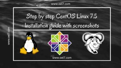 CentOS 7.5 Installation guide