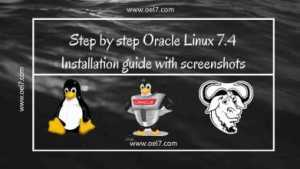 Oracle Linux 7.4 Installation guide