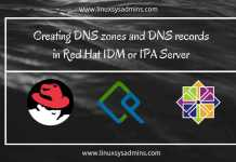 Creating DNS zones and DNS records in Red Hat IDM or IPA Server