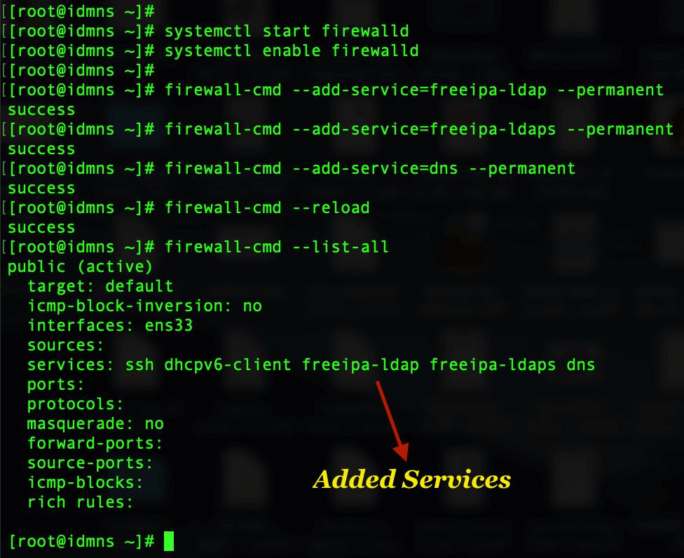 IPA server firewall rules