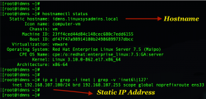 IPA server static IP and hostname