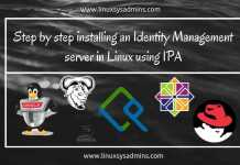 Step by step installing an Identity Management server in Linux using IPA