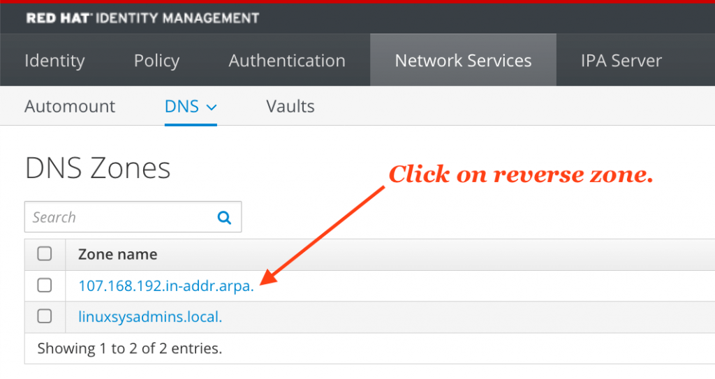 Verify DNS PTR record creation