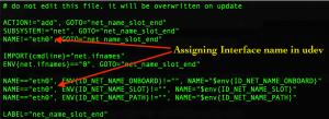 change parameters n udev rule file