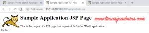 Sample application JSP page
