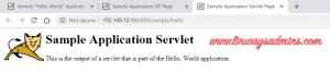 Sample application servlet