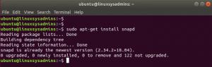sudo apt-get install snapd