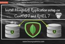 Install MongoDB Replication setup on CentOS 7 and RHEL 7