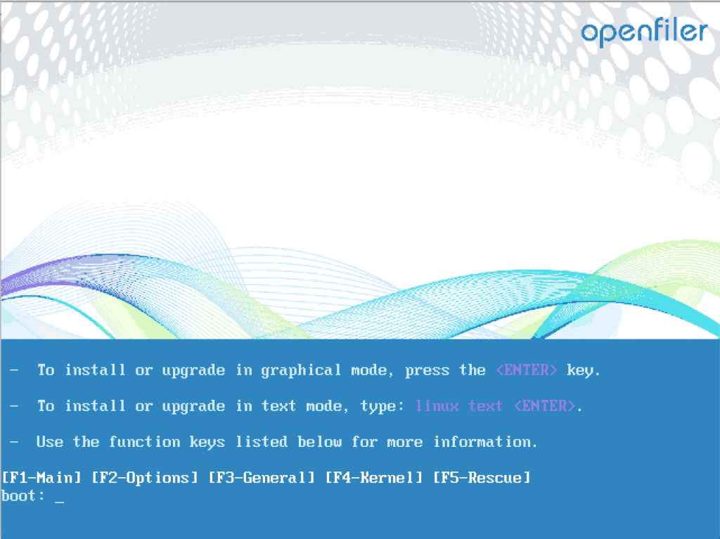 How to install Openfiler SAN Operating System 1