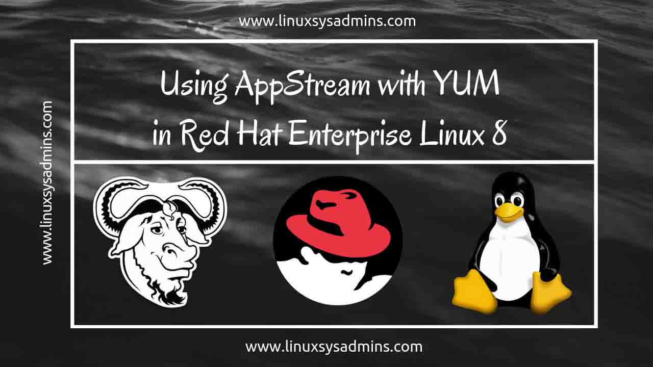 Using Application Stream with yum in Red Hat Enterprise Linux 8