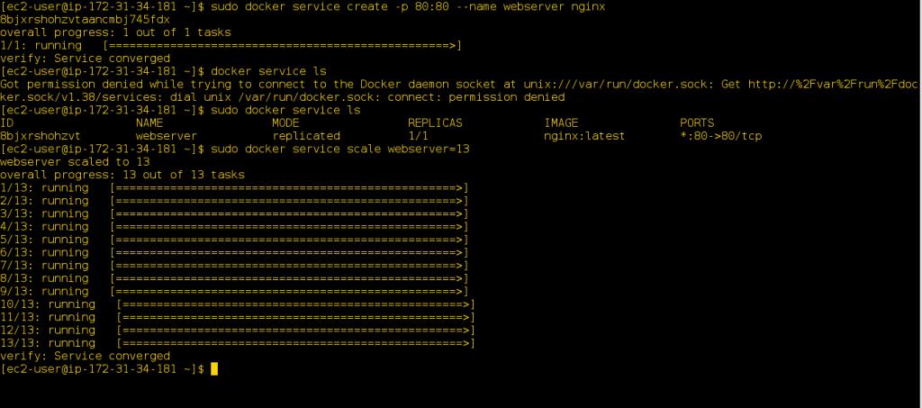 Creating an HA Docker Swarm over AWS 4