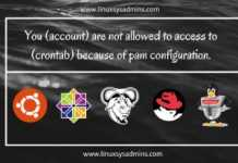 Your account are not allowed to access to crontab