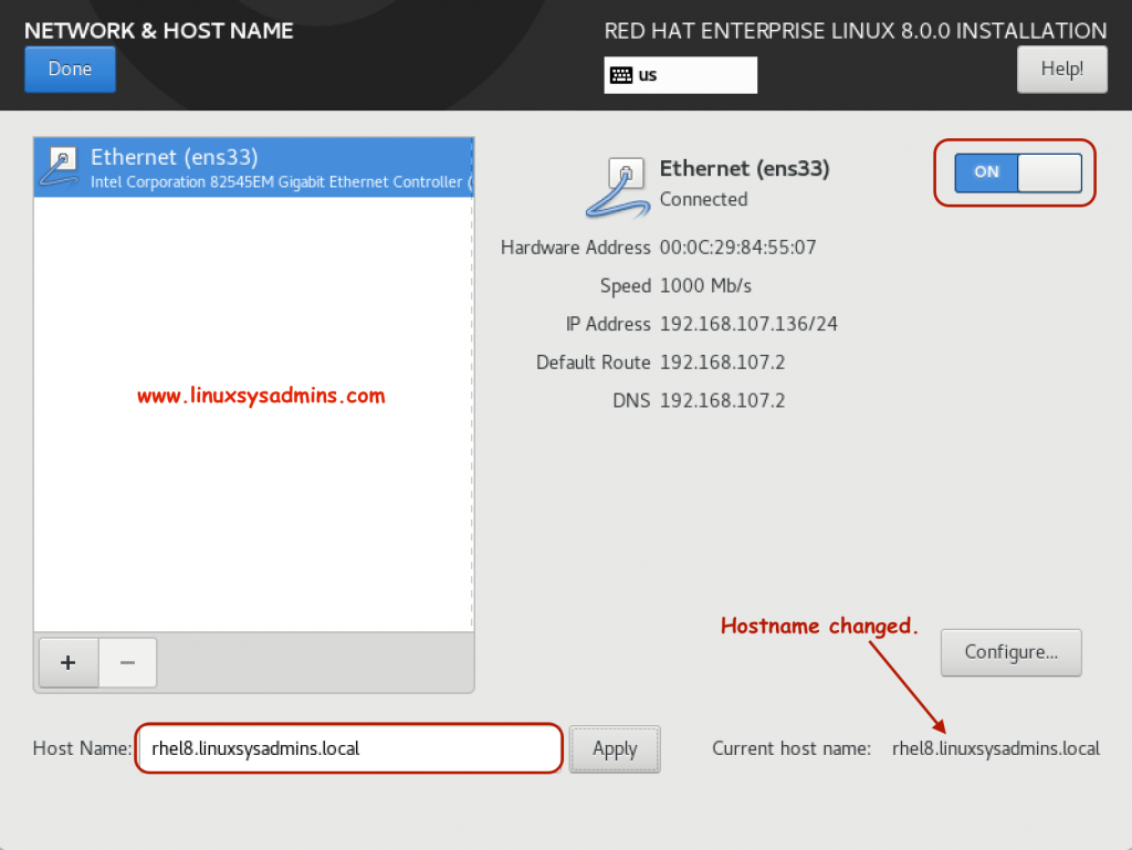 Configuring Hostname and Enable Interface.