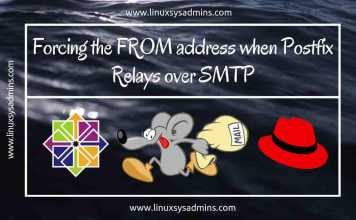 Forcing the FROM address when Postfix Relays over SMTP