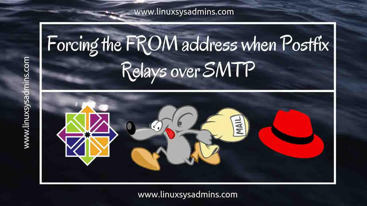 SMTP - Forcing the from address when Postfix relays over SMTP
