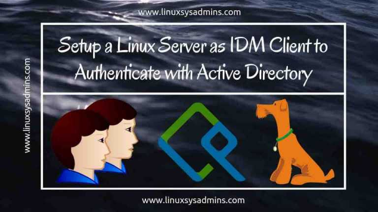 Setup a Linux server as IDM client to authenticate with Active Directory
