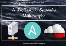 Ansible tasks for Sysadmins