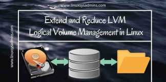 Extend and Reduce LVM Logical Volume Management in Linux