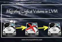 Migrating Logical Volume in LVM