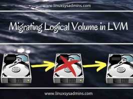 Migrating Logical Volume in LVM
