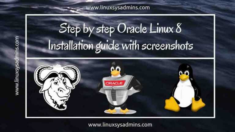 Step by step Oracle Linux 8 Installation guide with screenshots