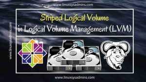 Striped Logical Volume in Logical volume management (LVM) 4