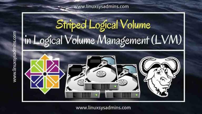 Striped Logical Volume in Logical volume management (LVM)