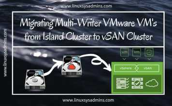 Migrating Multi-Writer VMware VM's from Island Cluster to vSAN Cluster