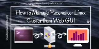 Pacemaker Linux cluster GUI