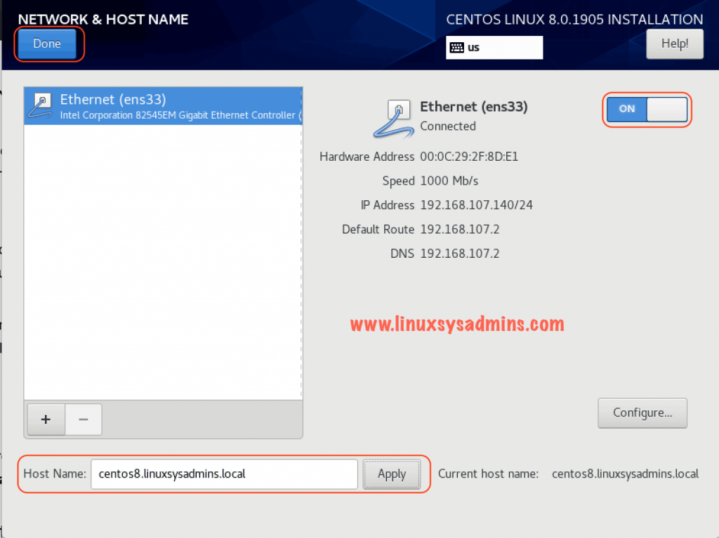 Set hostname and IP from DHCP