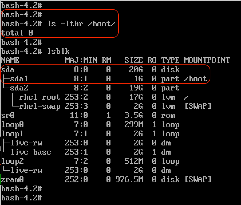 find the /boot residing disk
