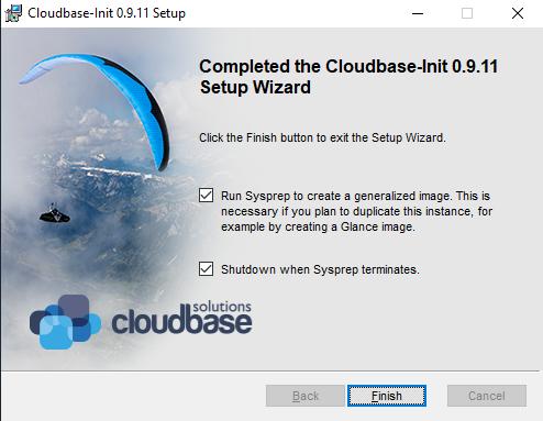 Finish the Cloud base setup