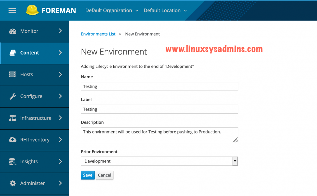 Creating Testing Environment