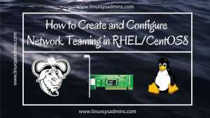 Create network Teaming