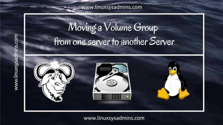 Moving a Volume Group from one Server to another Server