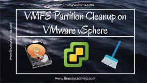 VMFS Partition Cleanup on VMware vSphere