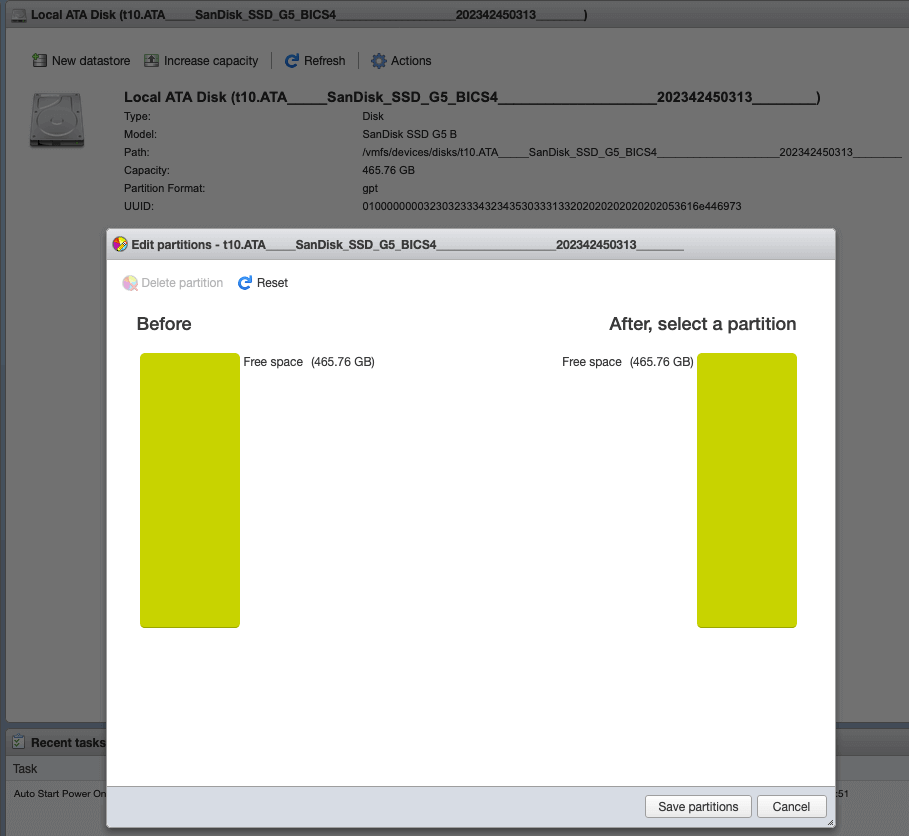 VMFS Partition