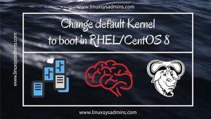 change default kernel