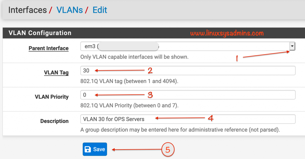 Creating VLAN in PfSense